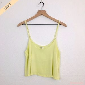 [Nollie] Yellow Cropped Swing Tank Top